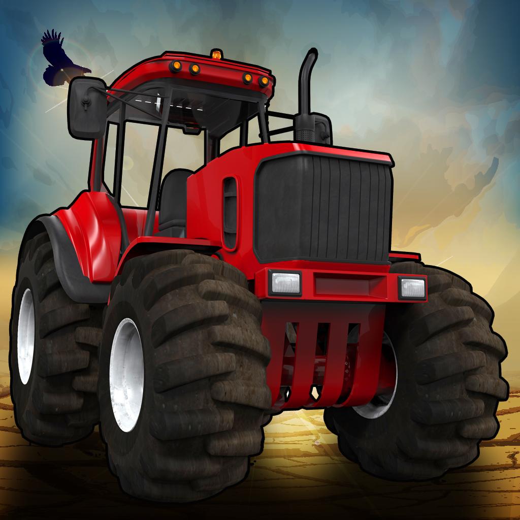 3D Crazy Monster Tractor Race - Desert Drag Racing Rally